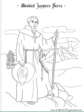 how to draw father serra