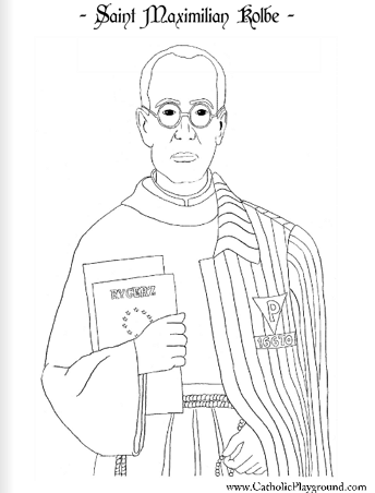 saint maxamillion kolbe coloring pages | Saints Coloring Pages – Catholic Playground