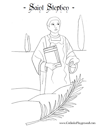 Coloring Pages Bible Stephen Saints Catholic Playground