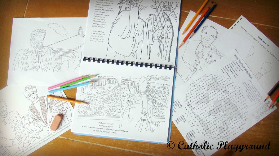 pope saint john paul ii coloring book