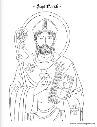 Saint Patrick coloring page: March 17th – Catholic Playground