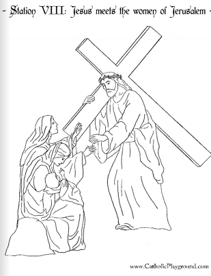 The stations of the cross coloring pages ~ Catholic Playground