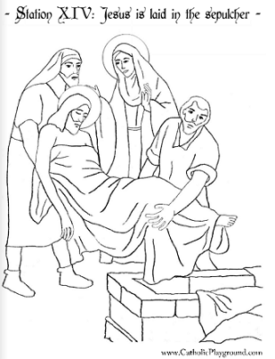 The stations of the cross coloring pages ~ The Stations of the Cross in coloring pages – Catholic ...