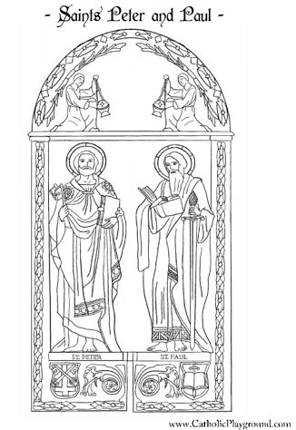 It's just a photo of Ridiculous st. peter coloring page